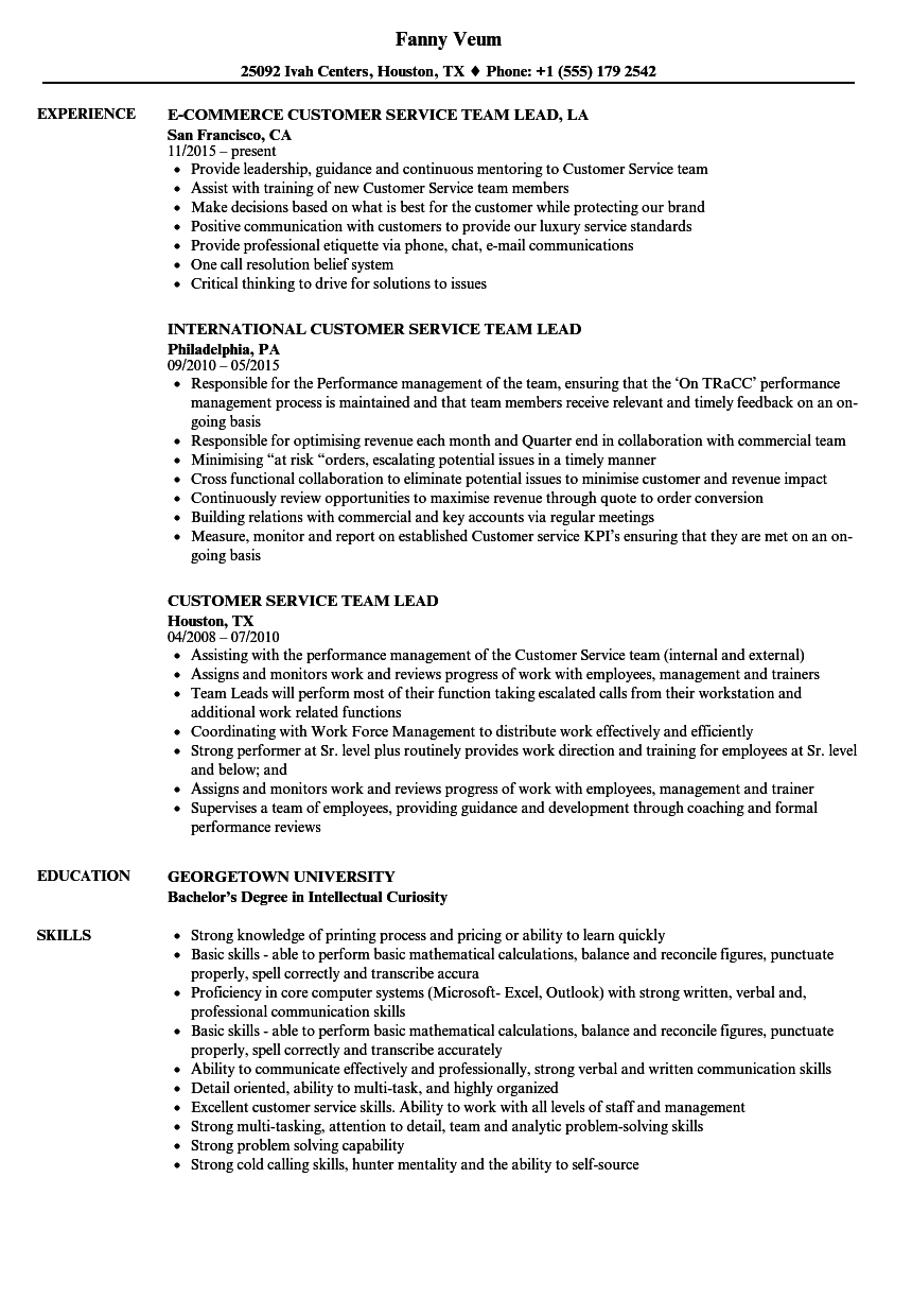 customer service support resume samples