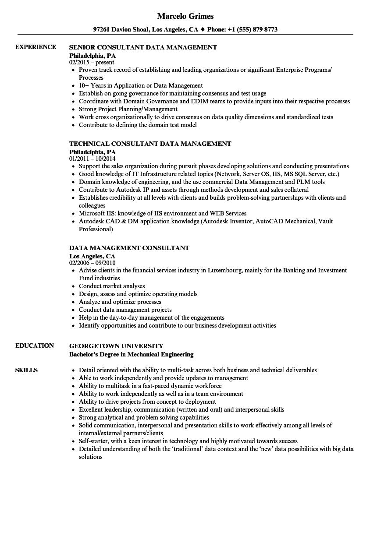 sample resume for organization development consultant