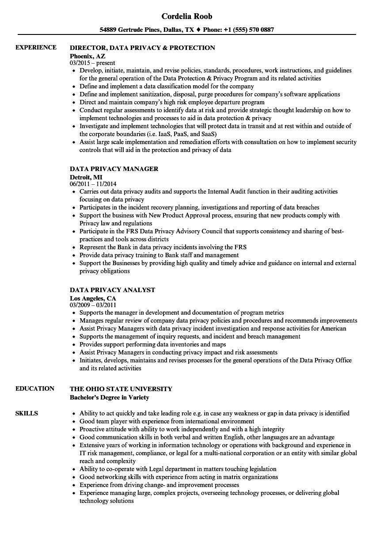 confidentialtie cv pdf apec