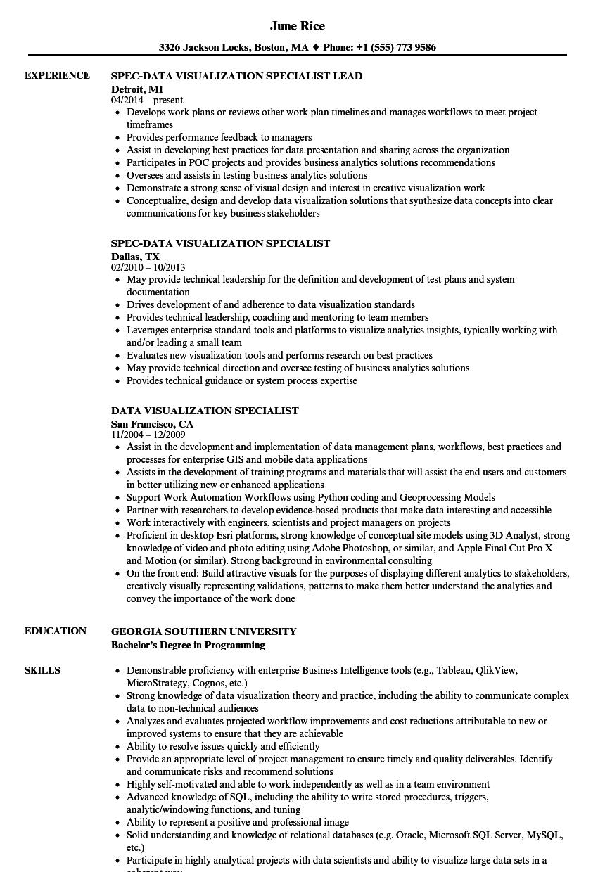 sample resume for database specialist