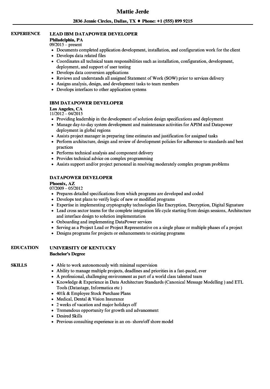 hybris developer sample resume