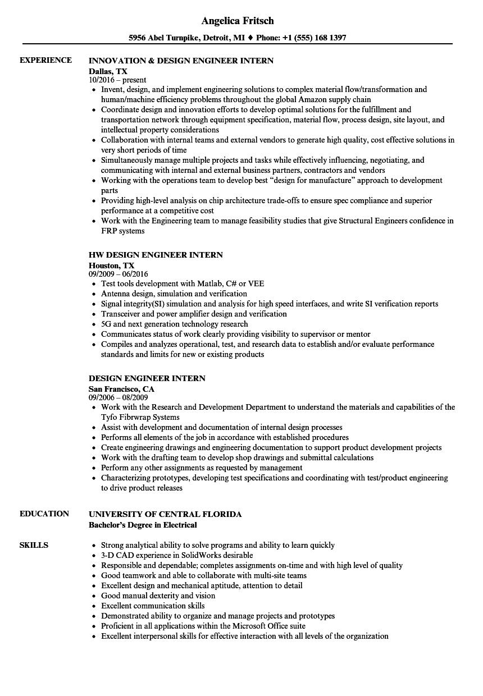 vlsi design engineer resume sample