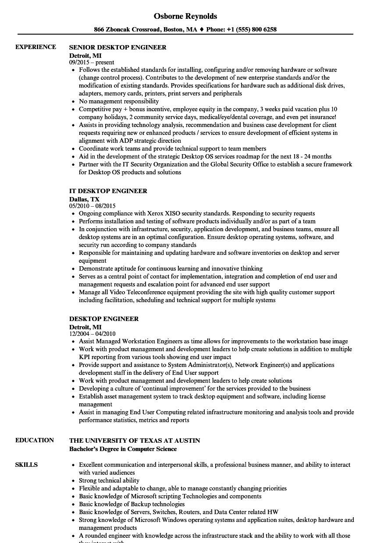 desktop resume sample related to team