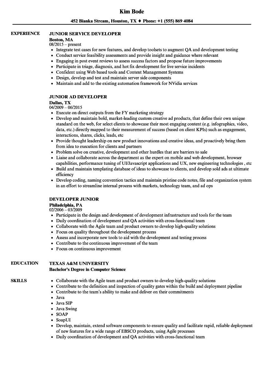 mysql developer sample resume