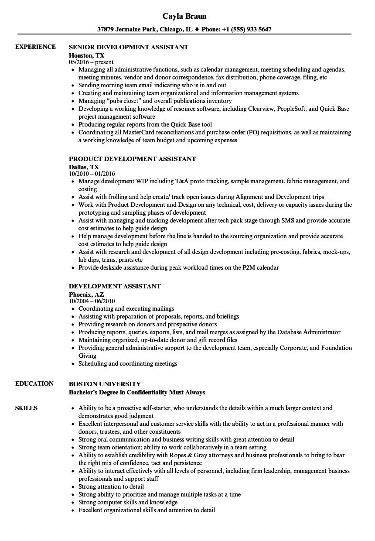 sample job development specialist resume