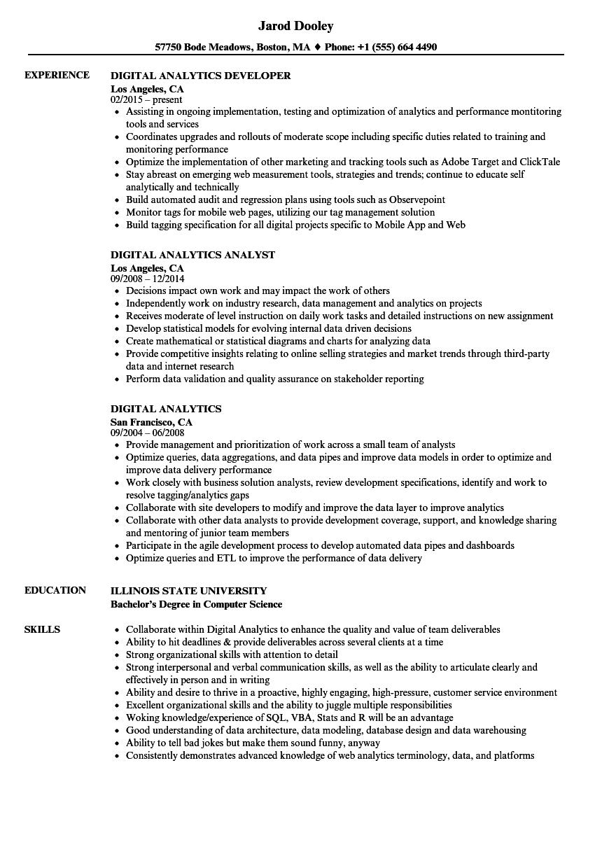 resume sample for google job