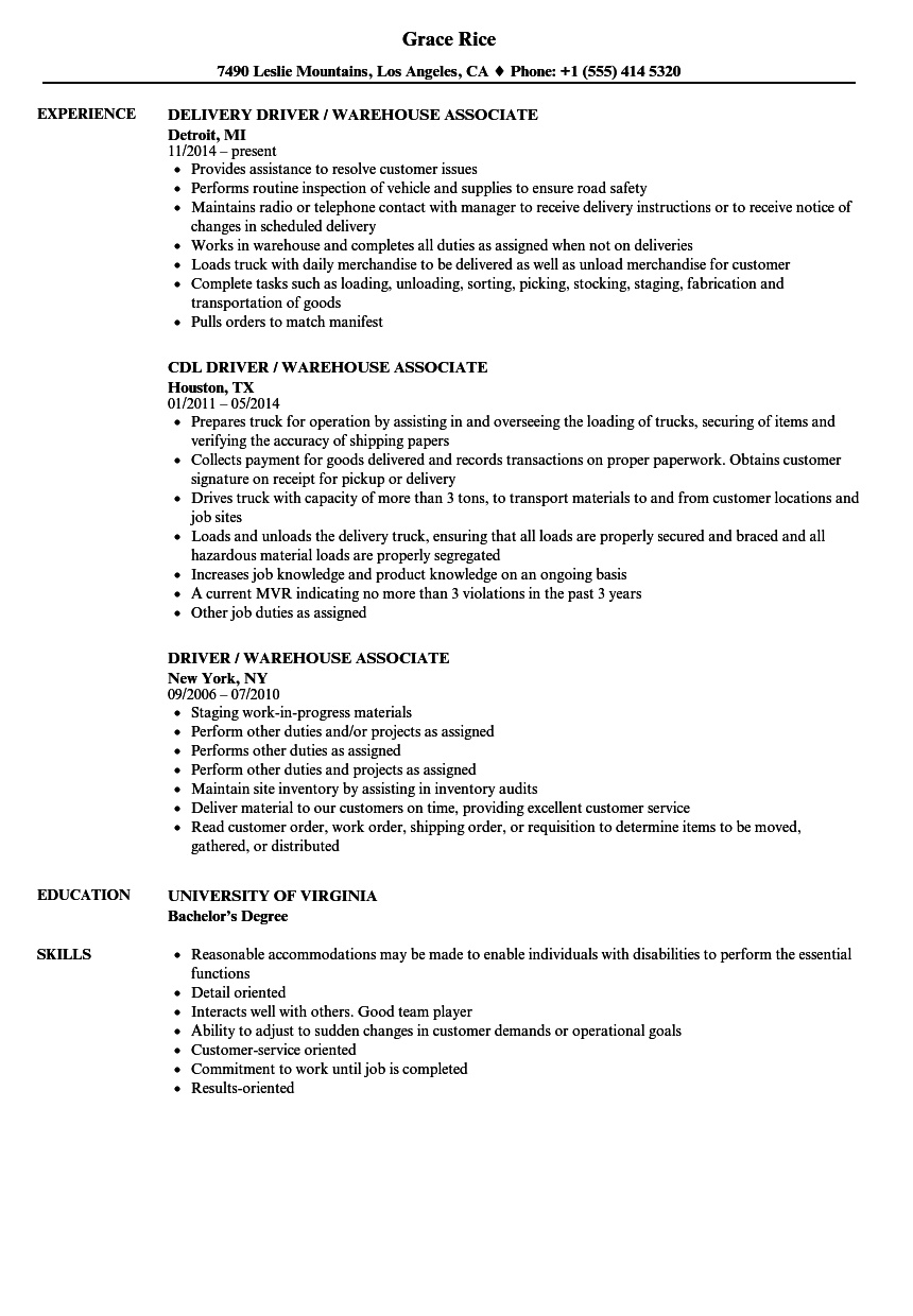 retail and restaurant associate resume examples u2013 free to