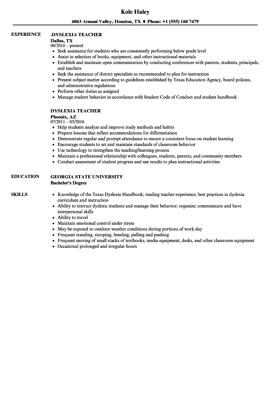 sample resume for early childhood lead teacher