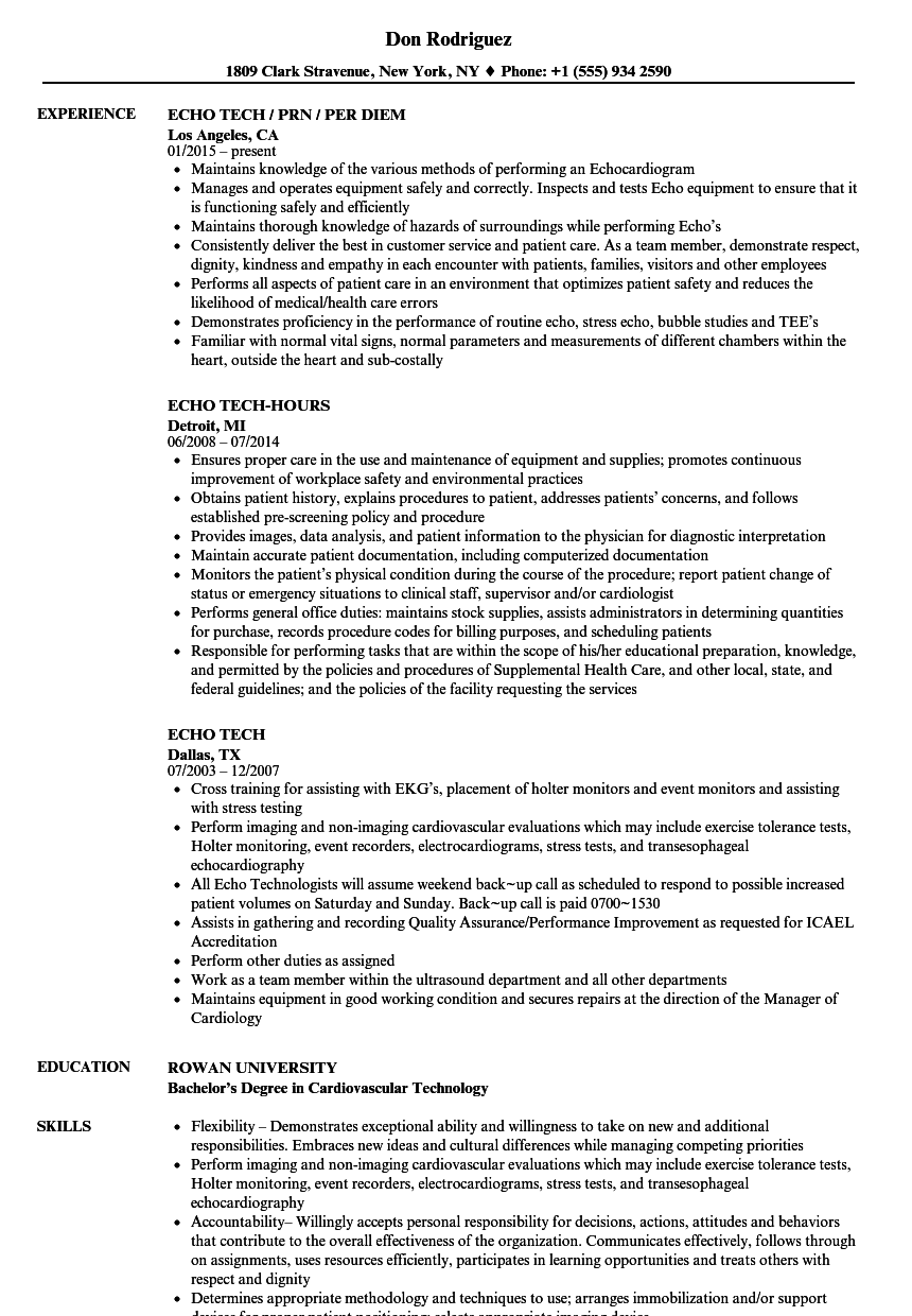 sample resume of tech support