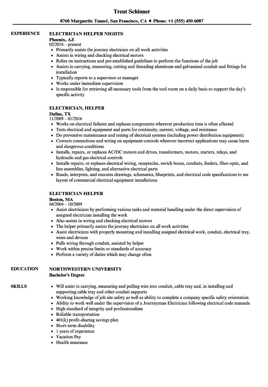 kitchen helper job resume sample