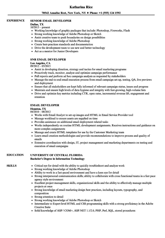 servicenow developer sample resume