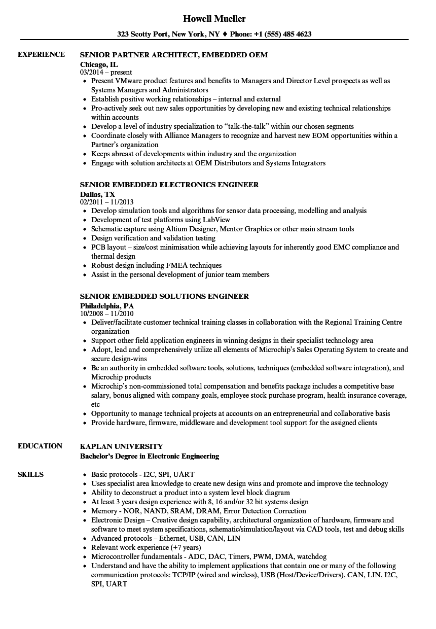 sample resume leadership experience