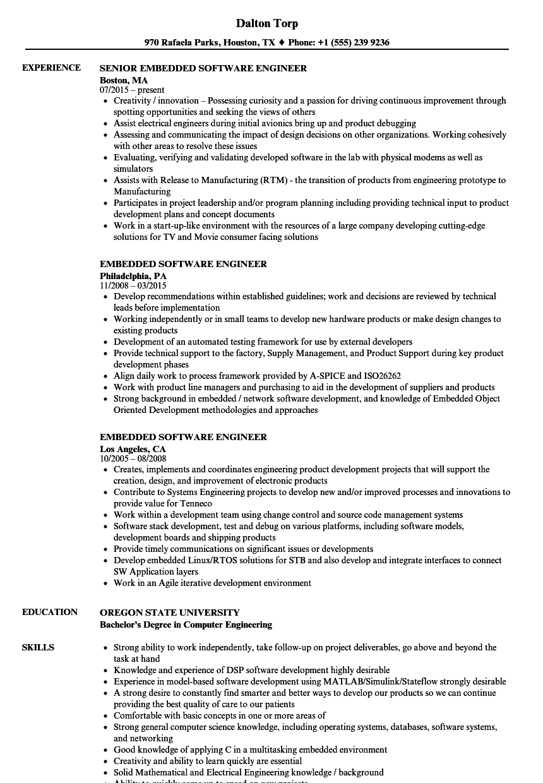 autosar resume sample