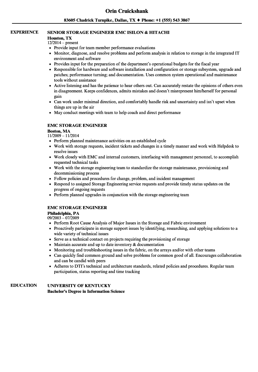 performance engineer resume sample