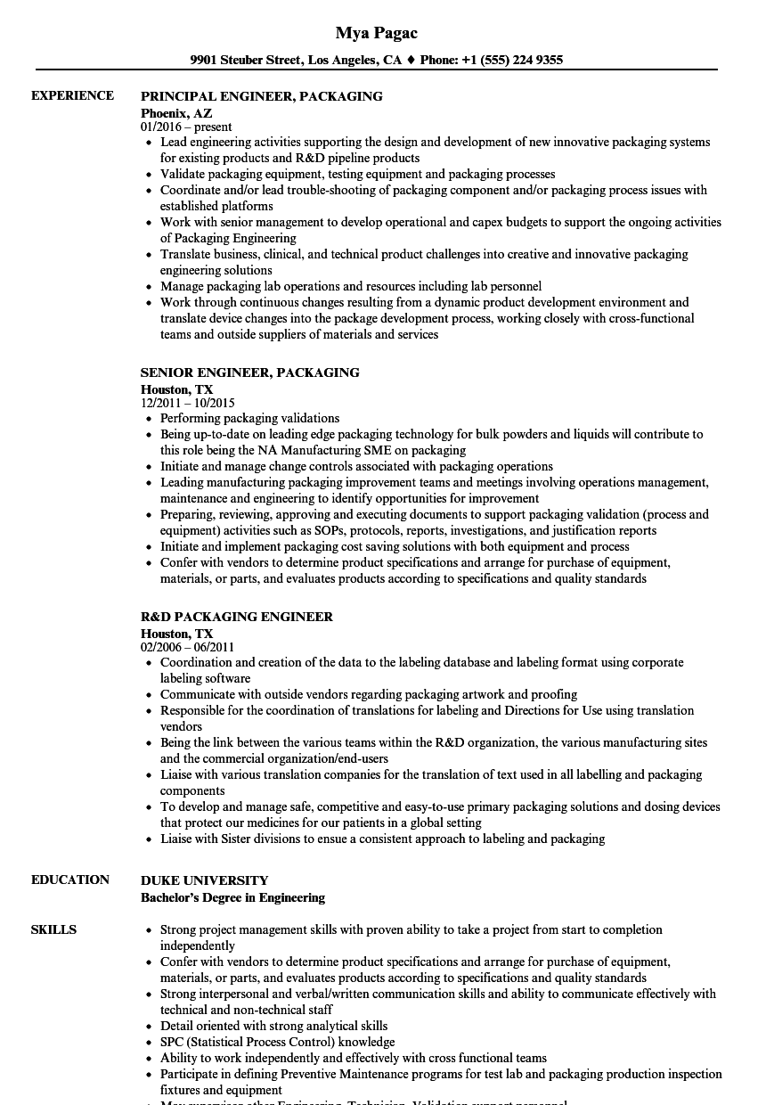 r d engineer resume sample