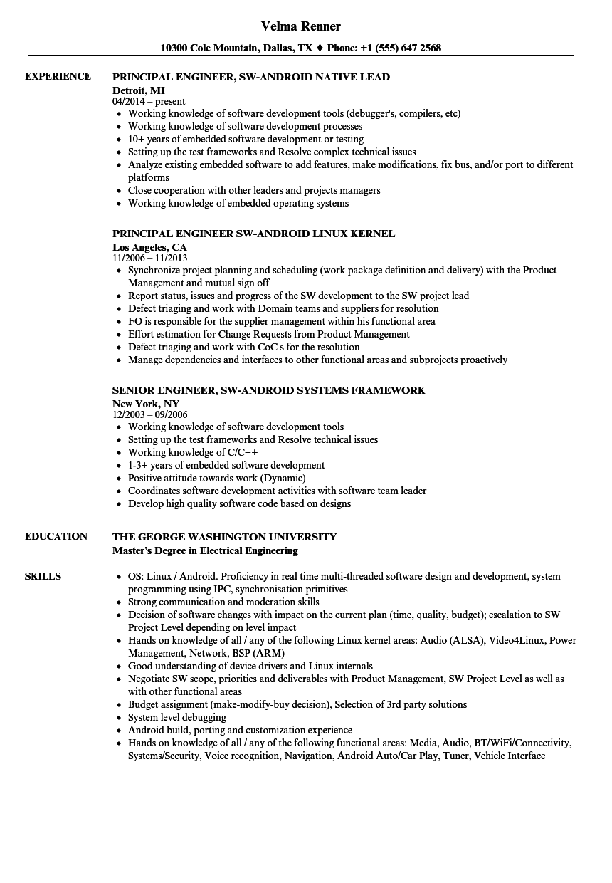technical support linux skills resume sample