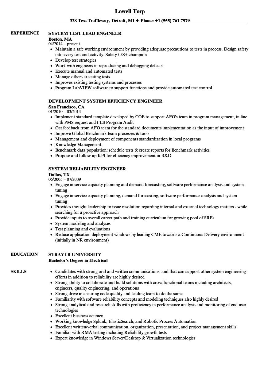 robotics engineer sample resume