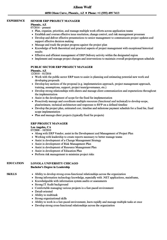 cross functional resume example