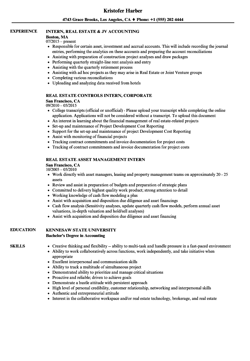 it project management intern resume sample