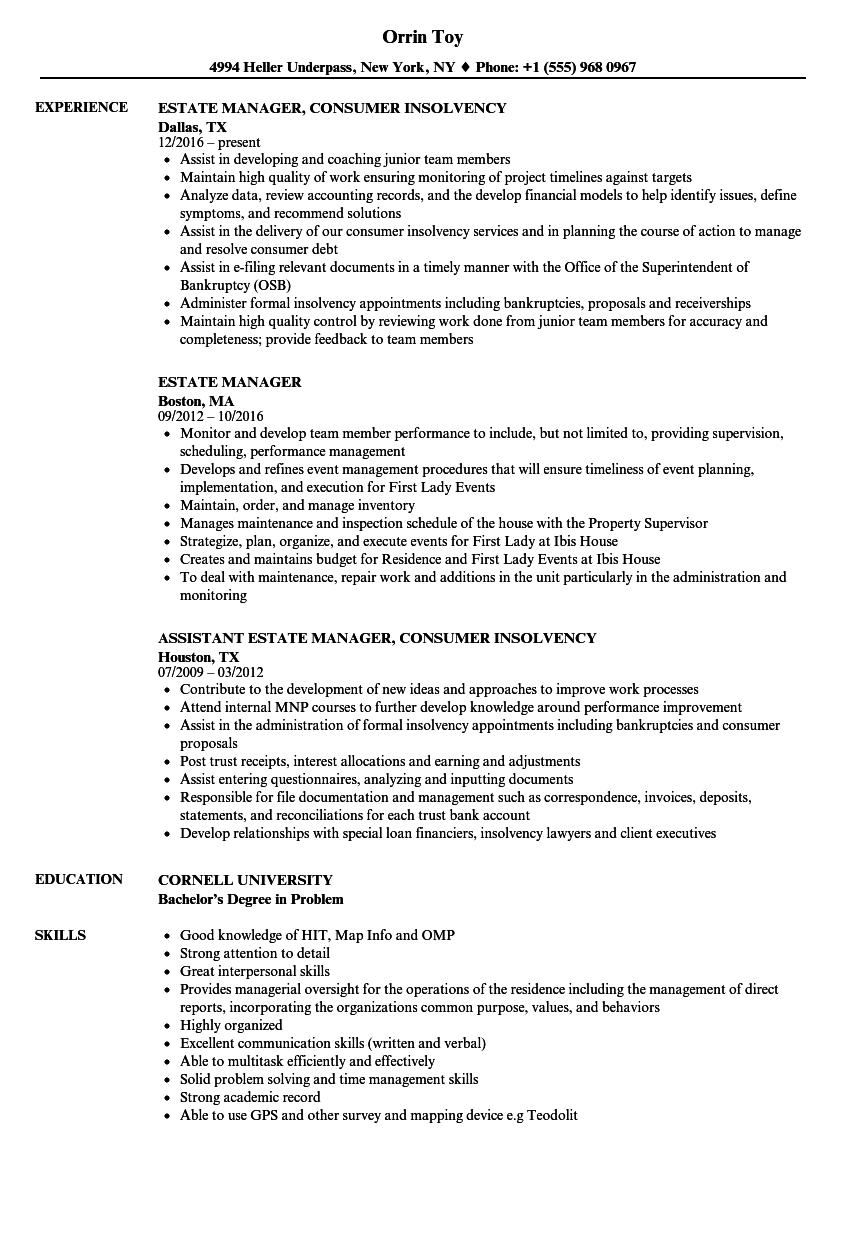 examples for strong resume