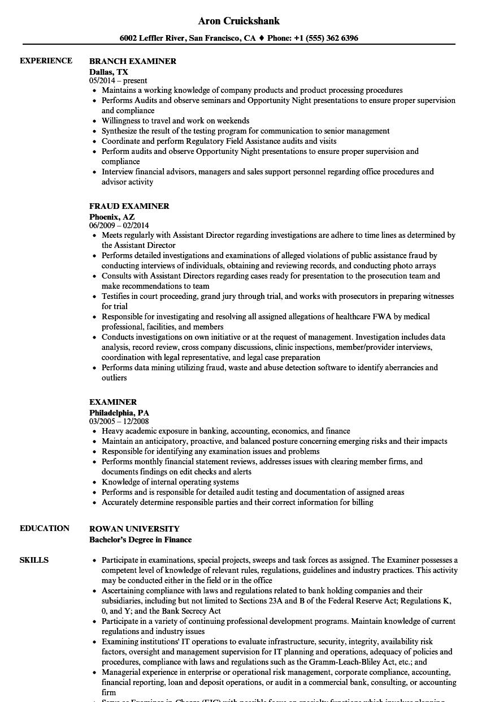 driver license examiner sample resume