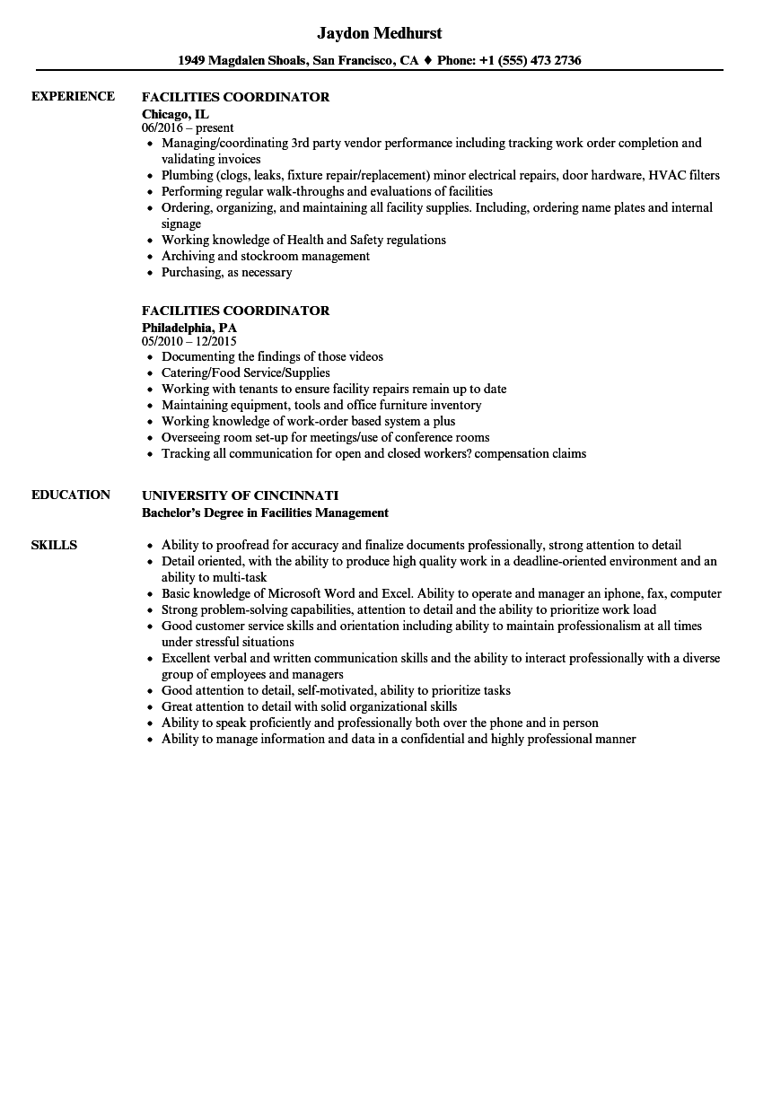 sample resume for college admissions coordinator