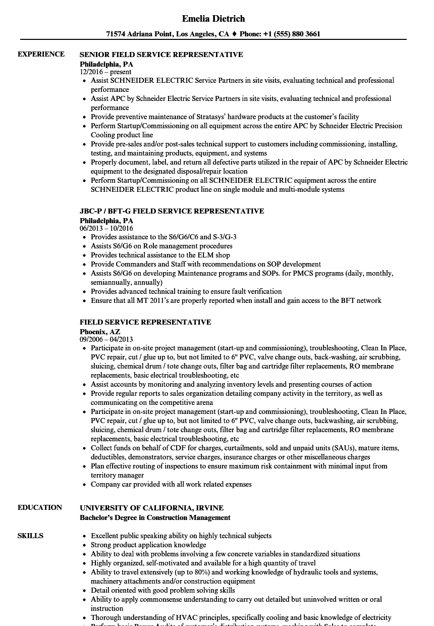 veterans service representative resume example
