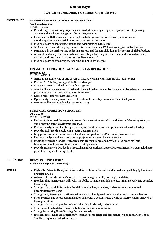 resume sample information