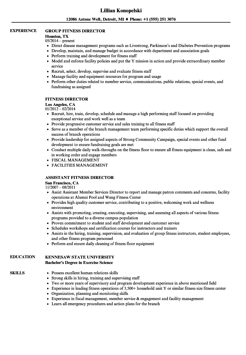 manager of ymca resume sample
