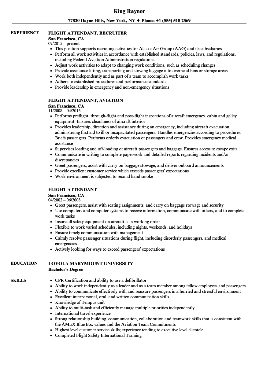 flight instructor resume sample