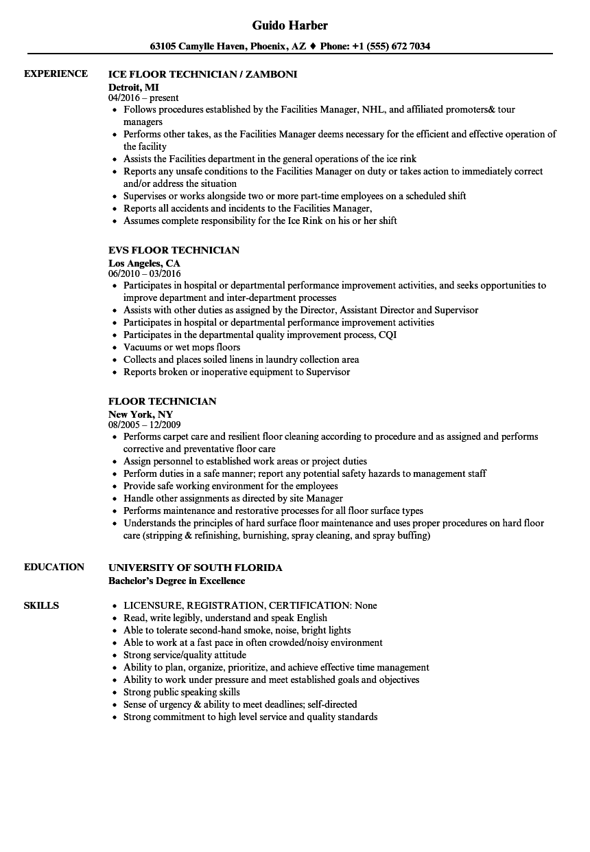 resume examples patient care technician