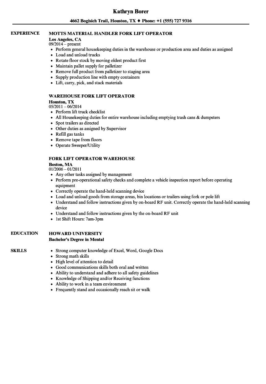 sample receiving resume