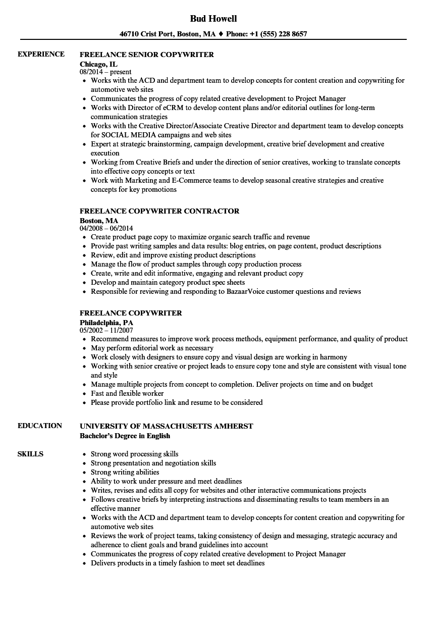 resume examples for video editor