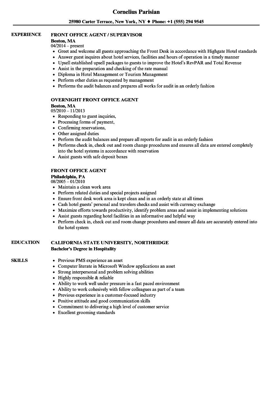 resume examples office procedures