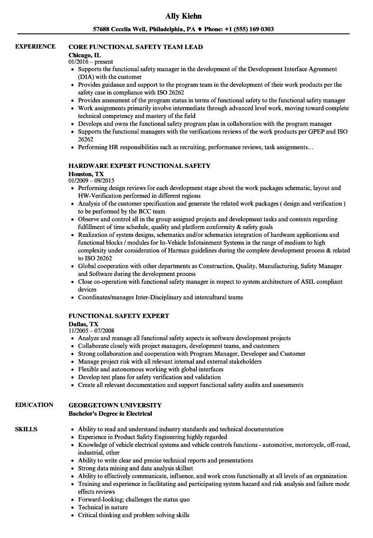process safety engineer resume sample
