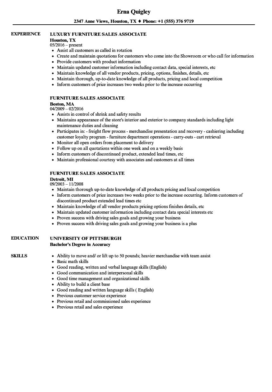 sample resume sales associate jewelry store