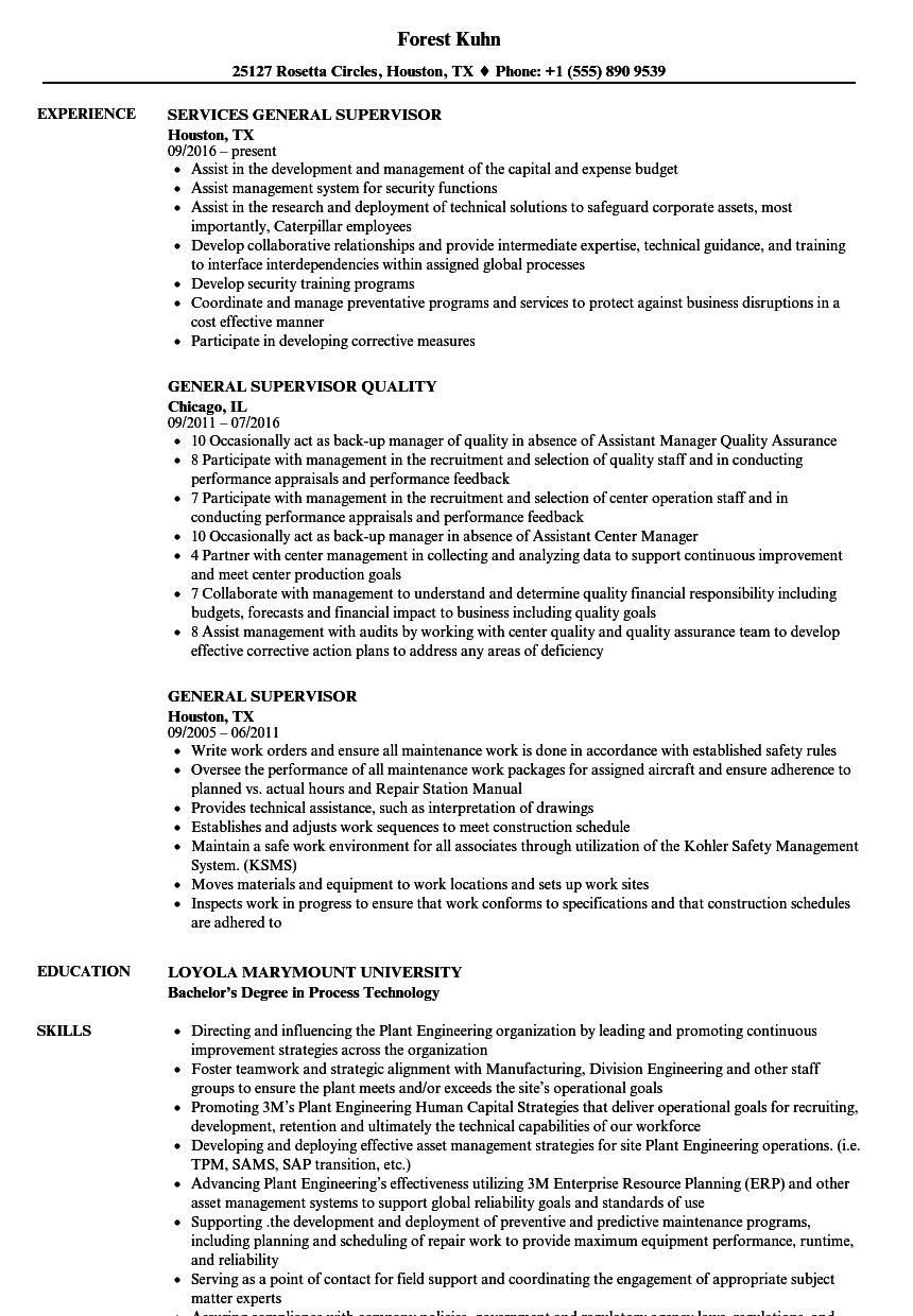 sample resume of accounting supervisor