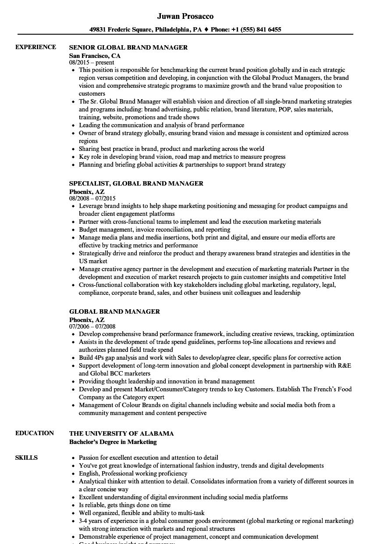 associate brand manager resume sample