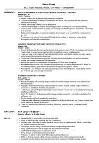 Graphic Design Internship Resume Samples