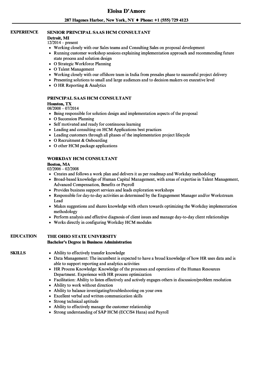 hr analytics resume sample