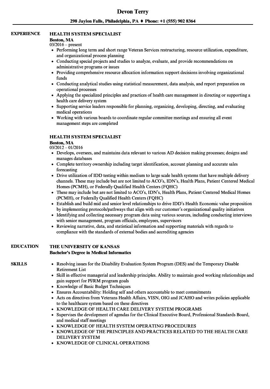 onboarding specialist job sample resume healthcare