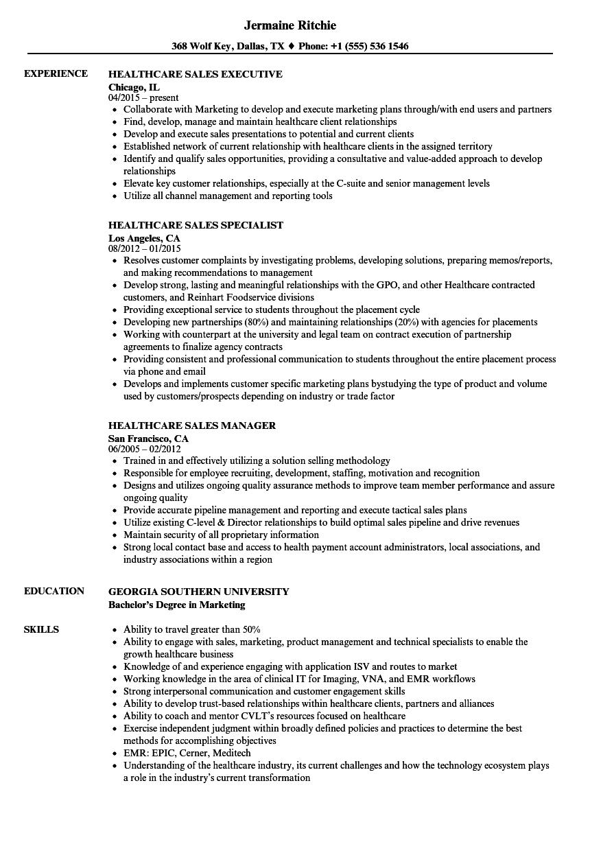 sample healthcare consultant resume
