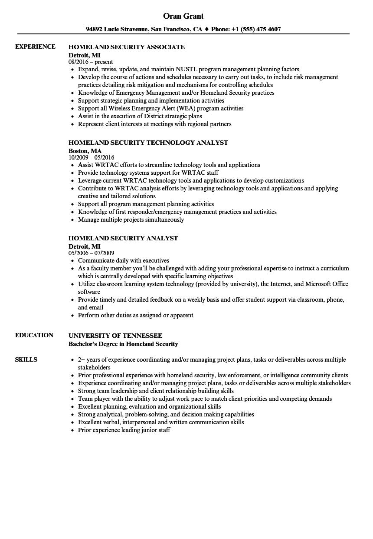 sample dhs resume