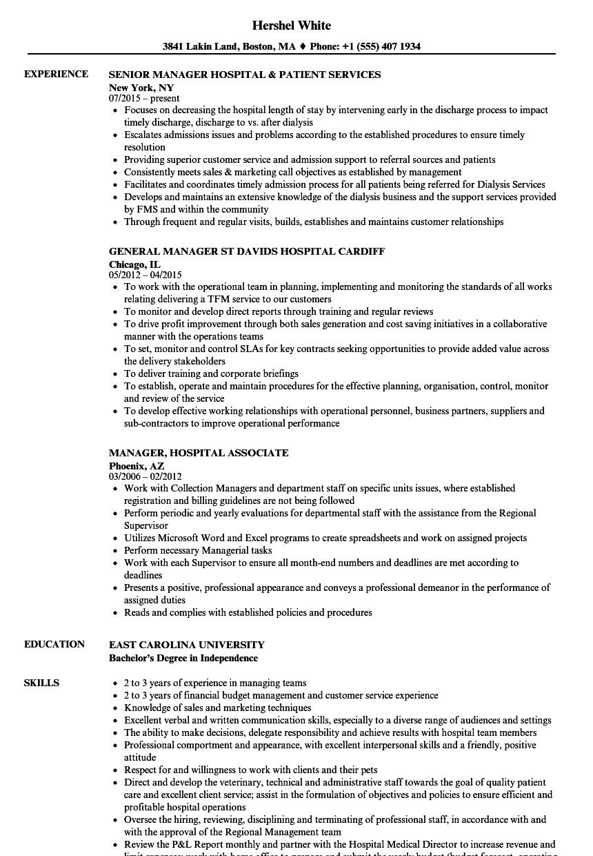 sample resume for a hospital case manager