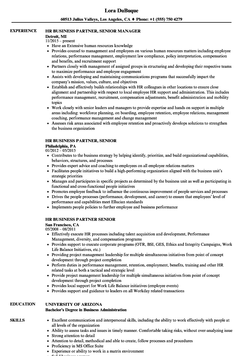regional human resources manager resume sample