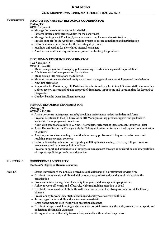 compliance coordinator resume sample