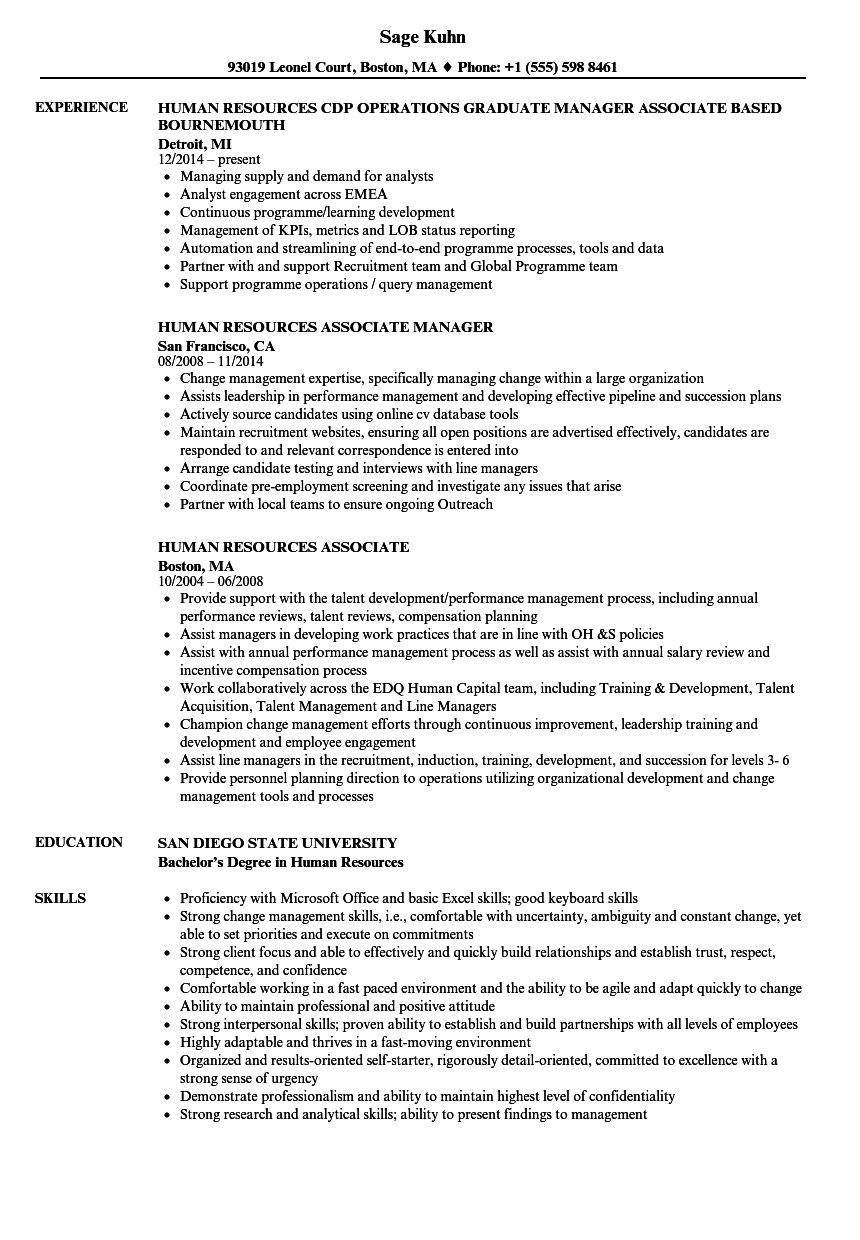 sample resume for business process associate