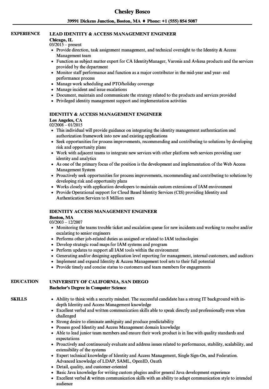 sailpoint sample resume
