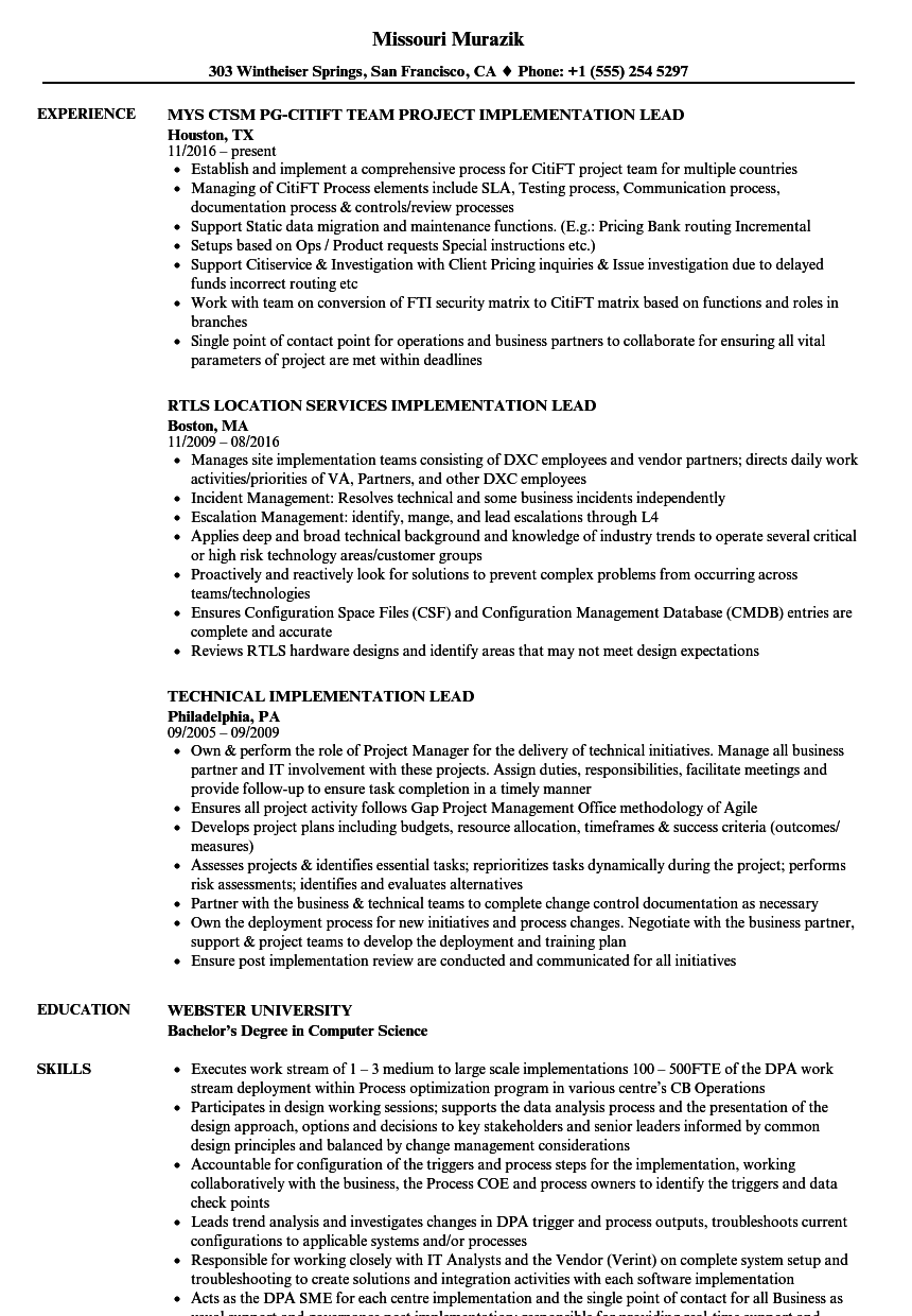 integration analyst resume sample