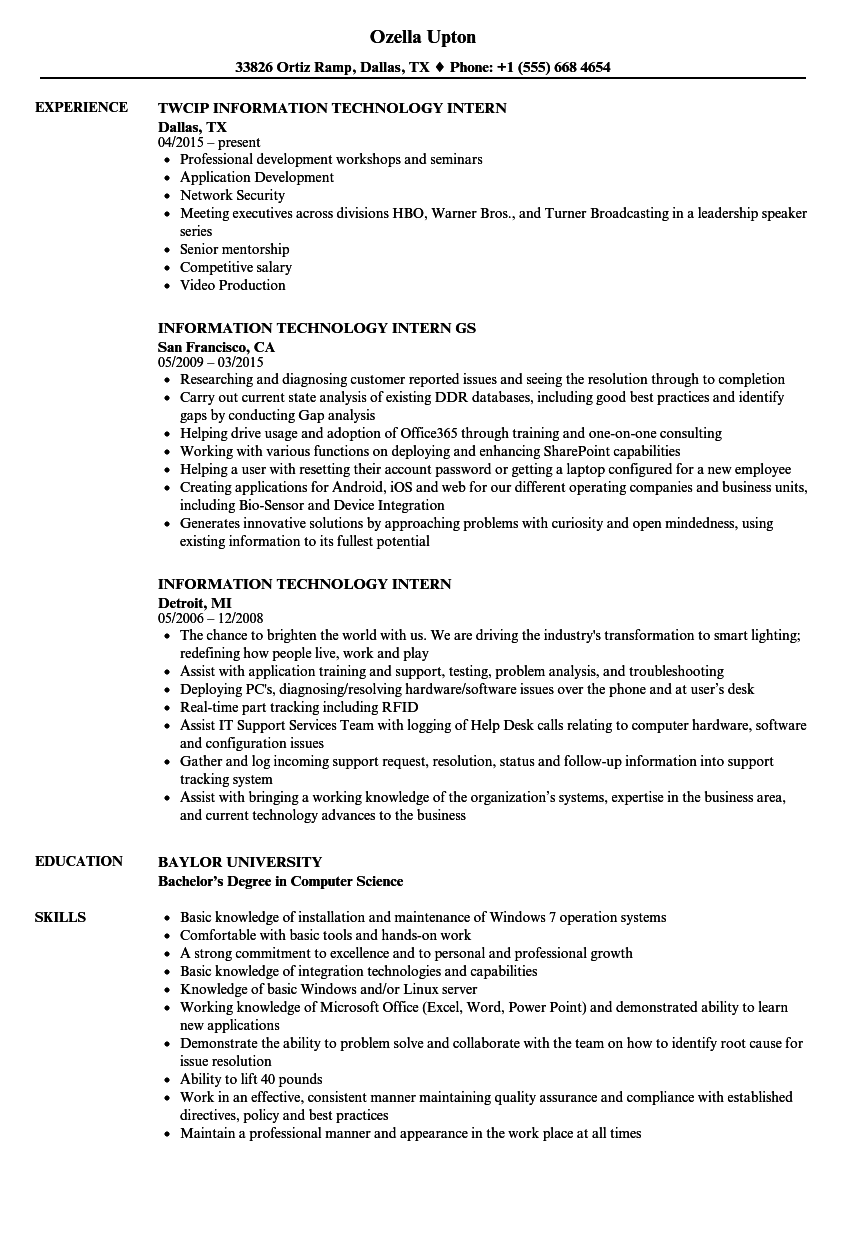 information systems manager resume examples